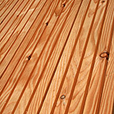 Larch decking, machined for strength